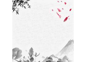 中国风背景素材山水画水墨画