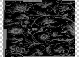 花卉设计花纹理映射纸样式,维多利亚女王时代,黑色花卉例证PNG cl