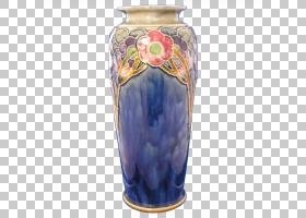 花瓶陶瓷钴蓝色神器,花瓶PNG剪贴画蓝色,花瓶,鲜花,骨灰盒,神器,图片