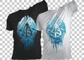 T恤自由潜水设计师水下潜水,排版T恤设计PNG剪贴画T恤,蓝色,活跃