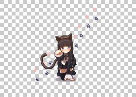 Oreimo动漫Catgirl赤壁,可爱猫咪女孩PNG剪贴画爱,哺乳动物,画,动图片