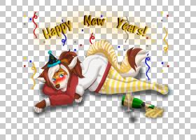 平面设计艺术,新年快乐PNG剪贴画杂项,哺乳动物,假期,文本,carniv图片