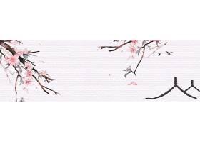 古典中国风背景素材山水画水墨画banner背景