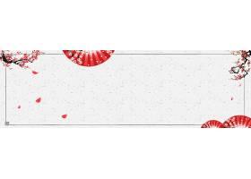 简约大气手绘水墨中国风banner背景