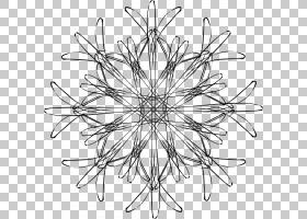 雪花,白雪PNG剪贴画角度,摄影,对称性,单色,树枝,线条艺术,树,黑