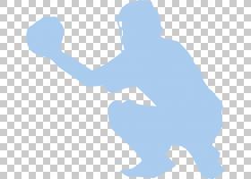 麦田守望者棒球手套垒球,免费棒球艺术PNG剪贴画蓝色,手,手臂,剪