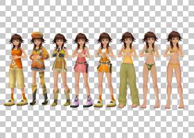 王国之心II Yuffie Kisaragi Kairi模型,王国之心PNG剪贴画女孩,d图片