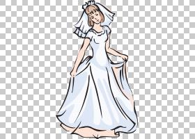 礼服服装婚礼新娘,新娘礼服PNG剪贴画白色,婚礼,新娘,时尚插画,虚图片
