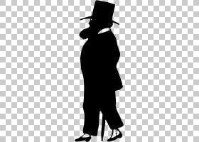 剪影绘图绅士,绅士PNG剪贴画动物,单色,虚构人物,鸟,黑色,剪影,封图片