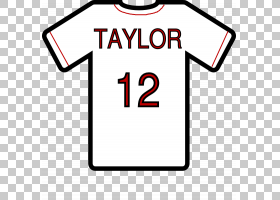 T恤衫,球衣PNG剪贴画T恤,模板,白,文字,图案,球衣,标志,黑色,数字