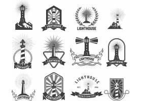 欧式灯塔主题LOGO徽章设计