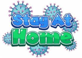 新冠病毒流感季节主题标签插画设计
