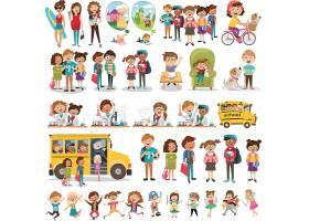 预防冠状病毒与儿童人群保护插画设计