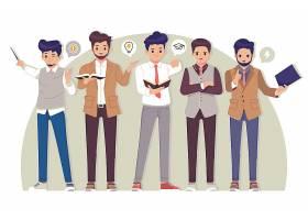 预防冠状病毒与个人生活习惯插画设计