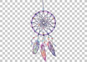 Dreamcatcher绘图,捉,粉红色和多彩多姿的dreamcatcher图PNG剪贴图片