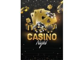 创意赌场之夜主题扑克筹码海报设计