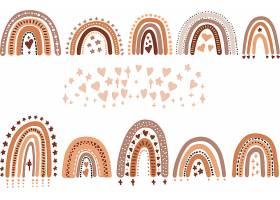 手绘清新山脉主题装饰边框花纹设计