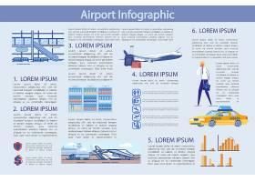 飞机出行主题图文插画信息展示
