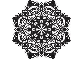 圆形曼陀罗艺术图矢量插画设计