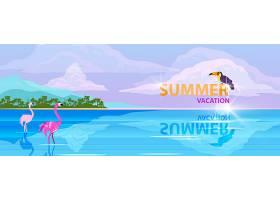 夏天主题促销活动bannner背景设计