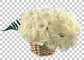 桌面花束礼品,白玫瑰PNG剪贴画爱情,插花,白色,人造花,花卉,桌面