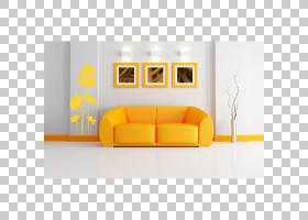 沙发客厅椅子家具,沙发PNG剪贴画角度,家具,室内设计,矩形,橙色,图片
