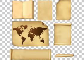 地球旧世界世界地图,纸张PNG剪贴画杂项,世界,创意市场,材料,免版