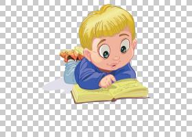 儿童动画片,黄色头发蓝色肚子读书男孩PNG clipart电视,蓝色,用户