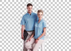 T恤Mercerised棉质Polo衫袖子连衣裙衬衫,T恤PNG剪贴画T恤,蓝色,图片