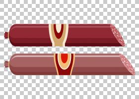 萨拉米香肠火腿Saucisson肉,美味的PNG剪贴画矩形,封装的PostScri图片