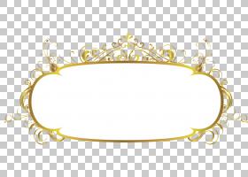 装饰艺术,文本框,椭圆形金色和白色横幅插图PNG剪贴画边框,杂项,
