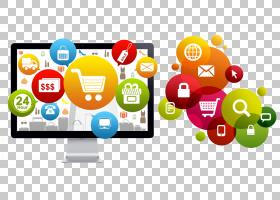 网站开发电子商务商务数字营销网页设计,淘宝电子商务海报PNG剪贴