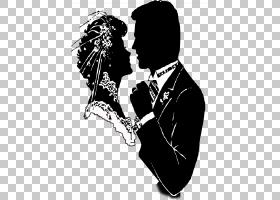 新郎婚礼,新娘PNG剪贴画爱,人,婚礼,单色,新娘,虚构人物,剪影,婚图片
