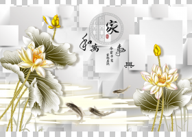 水墨画工笔,莲花背景材料格子,白花PNG剪贴画png素材,插花,3D电脑图片