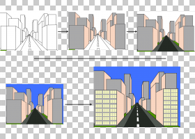 绘制立面建筑透视,透视图PNG剪贴画角度,建筑,文本,海拔,城市设计图片