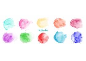 手绘彩色渐变水彩纹理素材