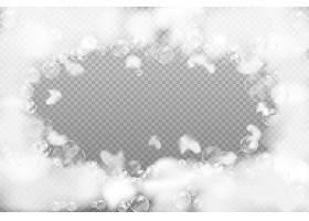 白色烟雾透明泡泡免扣装饰元素