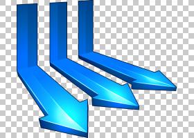 箭头立体多边形链,动态箭头PNG剪贴画蓝色,角度,3D计算机图形学,