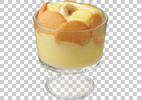 香蕉布丁奶油香蕉福斯特约克郡布丁,香蕉PNG剪贴画食品,食谱,冷冻