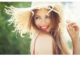女人,模特,,妇女,女孩,微笑,口红,帽子,蓝色,眼睛,黑发女人,壁纸,