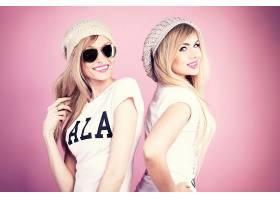 女人,模特,,妇女,女孩,微笑,白皙的,太阳镜,帽子,口红,蓝色,眼睛,