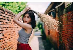 女人,亚洲的,女孩,模特,妇女,黑色,头发,壁纸,(29)