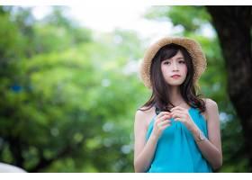 女人,亚洲的,妇女,模特,女孩,帽子,深度,关于,领域,壁纸,