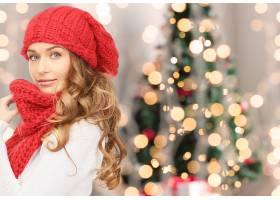 女人,模特,,妇女,女孩,白皙的,蓝色,眼睛,帽子,Bokeh,壁纸,