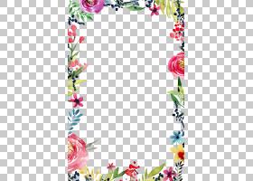鲜花婚礼请柬水彩,花卉,植物群,线路,插花,植物,分支,面积,叶,粉