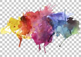 画笔抽象背景,叶,花瓣,水彩画,滴绘,墨刷,贴纸,抽象艺术,调色板,