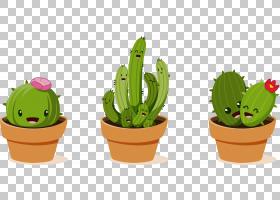 仙人掌动画,花盆,仙人掌,涂鸦,平面设计,水彩画,肉质植物,植物,绘
