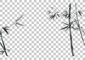 桌面水墨画国画桌面环境中国风水墨竹素材PNG剪贴画角,墨水,叶,摄