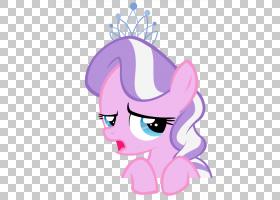 小马头饰苹果绽放,头饰PNG剪贴画杂项,紫色,哺乳动物,脸,紫,钻石,图片