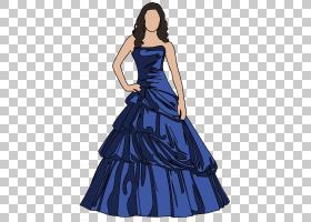 舞会礼服正式舞会PNG剪贴画蓝色,婚礼,新娘,女孩,晚礼服,方,电动图片